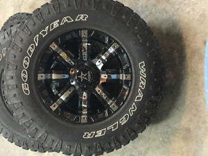RBP Rims and tires GMC 1500 6 bolt great  condition.