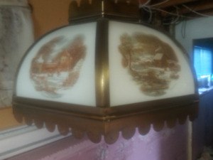 Currier and Ives hanging lamp