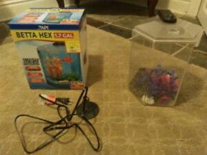 1.7G Fish Tank for sale (unused) with accessories, 30$ OBO