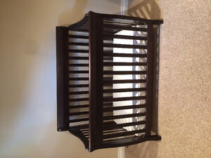 3 in 1 espresso crib and dresser/change table for sale