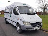 Mercedes-Benz SPRINTER 411 CDI HIGH ROOF MINIBUS + TWIN WHEELS + LWB