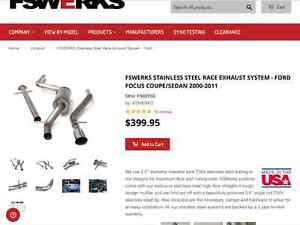 FSWERKS STAINLESS STEEL EXHAUST SYSTEM FORD FOCUS