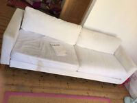IKEA KARLSTAD Off White Three Seater Sofabed With Storage And Fully Machine Washable Covers