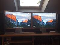 "2 x Apple 23"" Widescreen Cinema Screens"