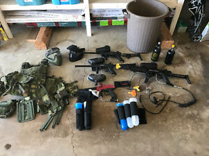 Paintball marker and gear package