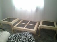 2 end tables and 1 coffee table