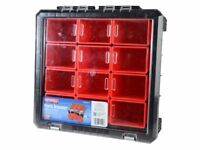 Faithfull 12 Compartment Plastic Organiser. Ideal For Tool Sewing Screw Nail Storage Camping Box