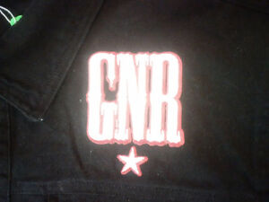 GN'R Guns & Roses Black Large Embroidered Denim Jacket Prince George British Columbia image 2