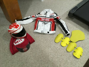 Selling red bell vortex motorcycle helmet and yamaha jacket