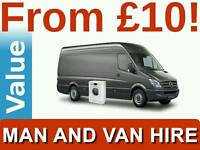 CHEAPEST SHORT NOTICE MAN AND VAN REMOVALS HOUSE HOME FLAT BED SOFA COURIER