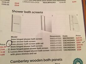 Shower screen with towel rail