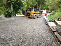 Driveway grading and excavating