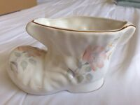 Porcelain China plant pot boot