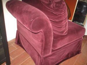 Chaise \ fauteuil \ divan  (en velour.)