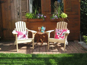 Adirondack buy or sell patio garden furniture in for Chaise adirondack bois