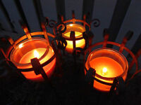 2 Sets of garden candle stakes + bonus!