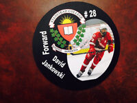 photographic hockey pucks