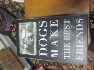 Dog Picture Frame/Plaque