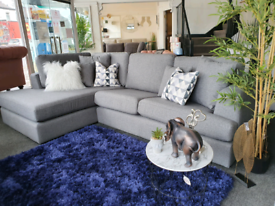 Brand New NEXT Stratus Corner Sofa Grey DELIVERY AVAILABLE