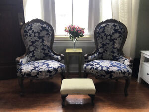 Set of 2 Bombay Co. living room chairs