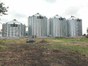 Grain Bins for Sale, All Sizes! Turnkey Flat Bottoms and Hoppers