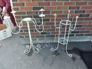 wrought iron candelabra in good cond stands about 31in tall