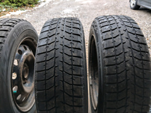 Blizzak winter tires 185/65R15 for sale.