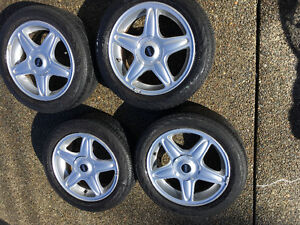 4 Mini Cooper mags and tires
