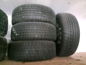 """14"""" michelin winter tires and wheels"""