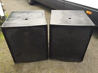 HK Audio PR 115 Sub bass bins / speakers