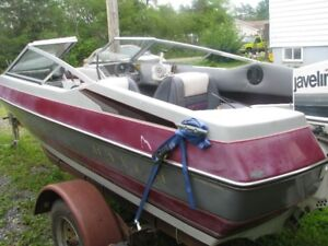 Boat trailer can take up to 18 foot boat