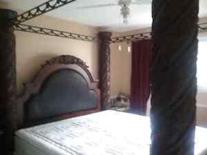 Four poster canopy King Size bedframe Strathcona County Edmonton Area image 3