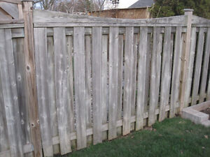 Pressure treated fence sections