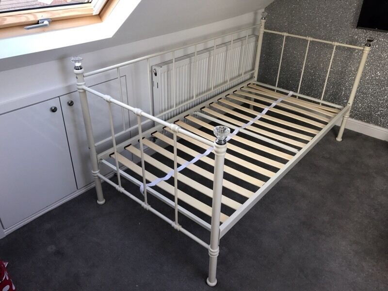 Next cream metal single bed with diamond post tops | in Liverpool ...