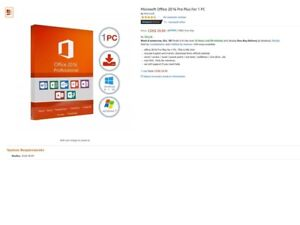 Microsoft Office 2016 Pro Plus for 1 PC