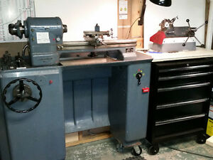 Selling SCHAUBLIN 102 LATHE & accessories w/ 5 drawer tool chest