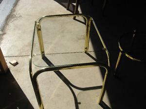 Square brass coffee table