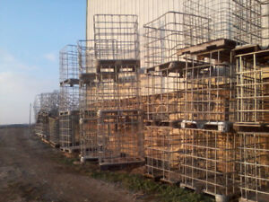 firewood crates, bins, containers