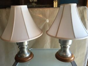New Brunswick made Pewter lamps.
