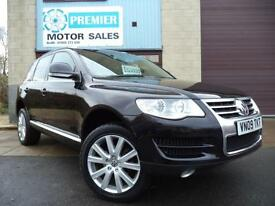 2009 VOLKSWAGEN TOUAREG 2.5 TDI SE 174 E4 DPF AUTO, SAT NAV, FULL HEATED LEATHER