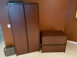 Matching cupboard and cabinet