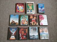 9 NEW & USED DVD's & 2 USED VHS Tapes