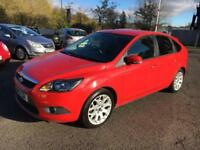 1010 Ford Focus 1.6 115ps Zetec S Red 5 Door 50720mls MOT Sep 2018