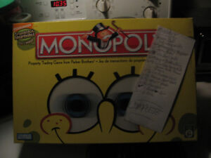 Monopoly SpongeBob SquarePants Edition Board Game COMPLETE