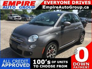 2013 FIAT 500 ONE OWNER * LEATHER/CLOTH * BLUETOOTH