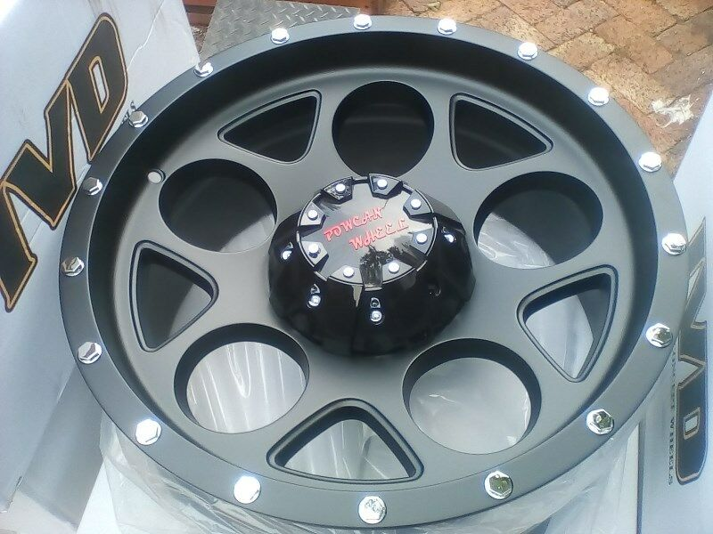 "New 17"" and 18"" matt black magwheels Hilux Revo and Ford Ranger T6 bakkies and 4x4's/SUV's"