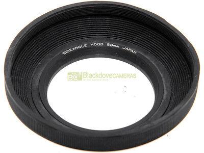 58mm. paraluce ripiegabile in gomma x grandangolari universale, innesto a vite.