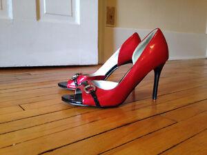 Red and Black Stillettos