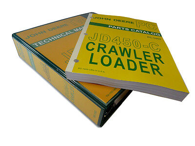 John Deere Jd450-c Crawler Loader Technical Service Manual Parts Catalog 450c
