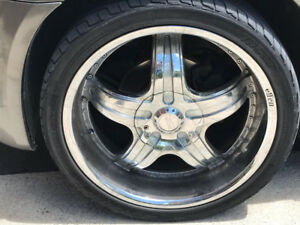 Chrysler 300 car tires with Alloys Sports Rims 265/35/22